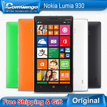 930 Original Nokia Lumia 930 Mobile phone Qualcomm 800 Quad core 2GB RAM 32GB ROM 20MP Camera Gorilla Glass Free Shipping