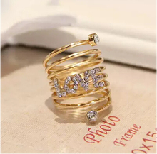 Buy ZOSHI Austria Crystal Rhinestone rings Gold Color finger ring wedding engagement Zircon Crystal Rings women jewelry wholesale for $1.00 in AliExpress store
