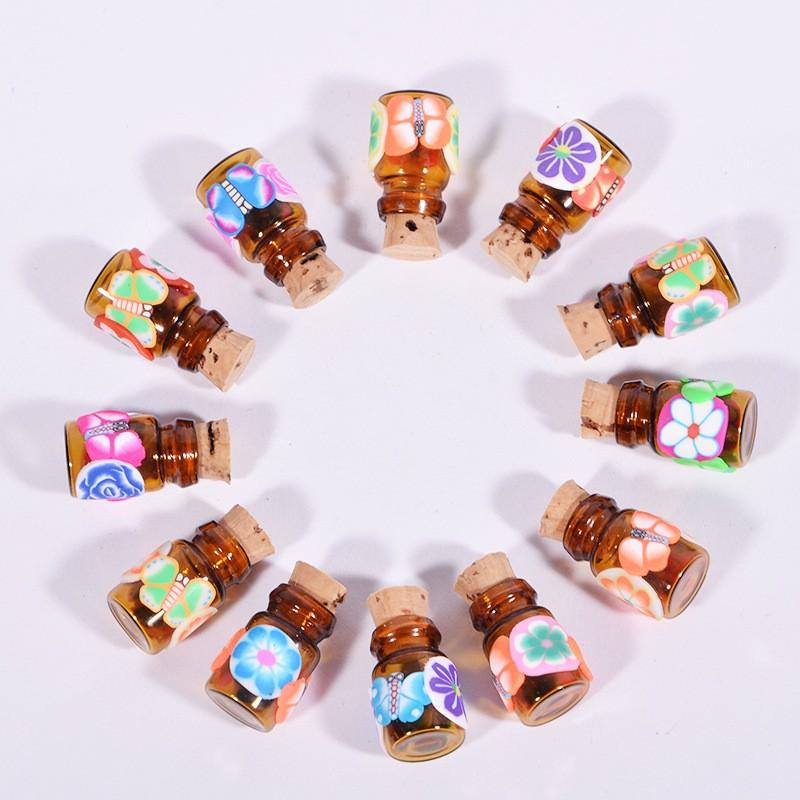 100sets/ lot 10ml Glass Vials+20mm Vial Stopper + 20mm Flip off Caps + 1pcs 20mm Vial Crimper