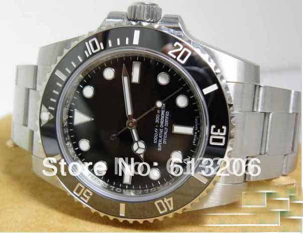 luxury watch automatic ceramic bezel original clasp oyster perpetual stainless steel men watches(China (Mainland))