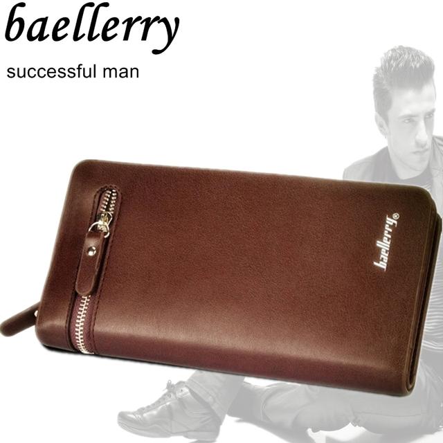 2016 новый baellerry креативный дизайн моды кожа мужчины бумажник бизнес фирменный ...