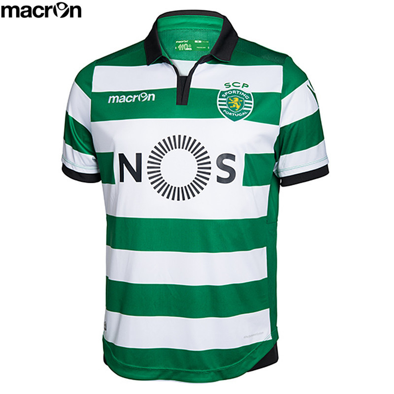Macron Sporting Lisbon Clube de Portugal Lisboa 2016/17 Adults Home Soccer Jersey(China (Mainland))