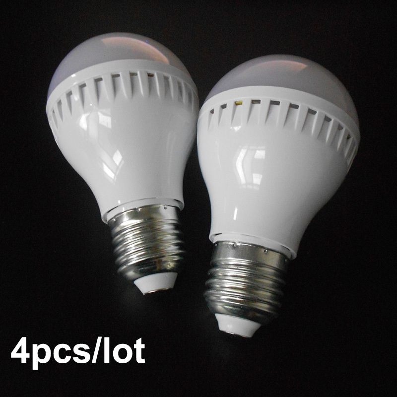 4pcs/lot Smart LED sound activated led sensor lamp light e27 AC220V AC230V AC240V 3W 5W 7W free shipping(China (Mainland))