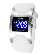 Luxury Brand Women Watch New Fashion LED Watch Elegant Popular Digital Silicone Watch Women Ladies Casual Watch Waterproof White
