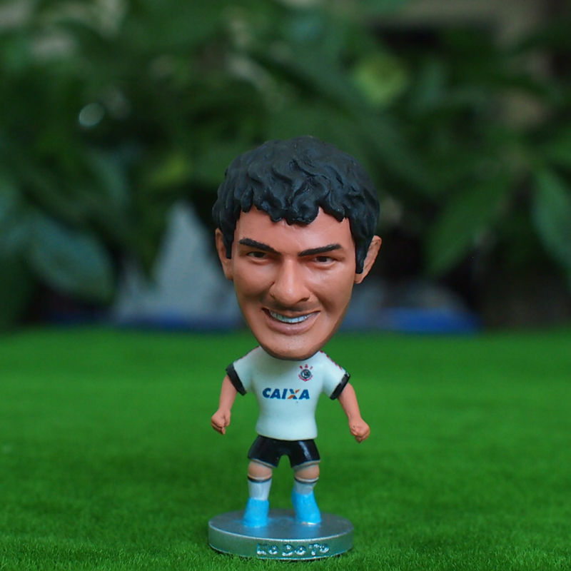 Kodoto Classic 6.5*3.5 cm Soccer Star Doll Corinthians 7 pato Mini Resin Figure Office Doll Funny in white Kit(China (Mainland))