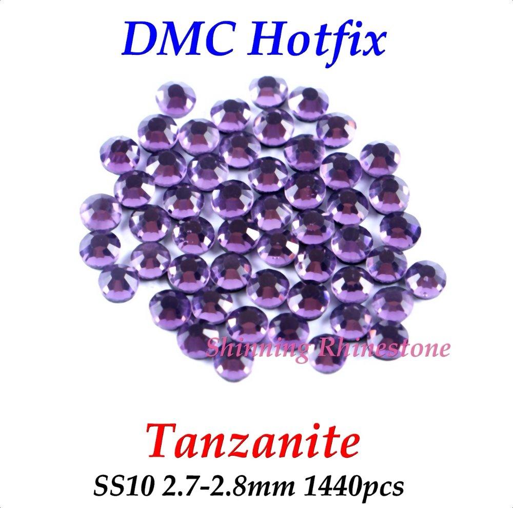 DMC Tanzanite SS10 2.7-2.8mm Glass Crystals Hotfix Rhinestone Iron-on Rhinestones Shiny DIY Garment Bag With Glue(China (Mainland))