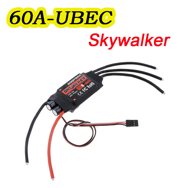 60A ESC Hobbywing SkyWalker Brushless Speed Controller With 60A UBEC 2-6S Lipo Battery BEC 5V 5A RC FPV Quadcopter(China (Mainland))