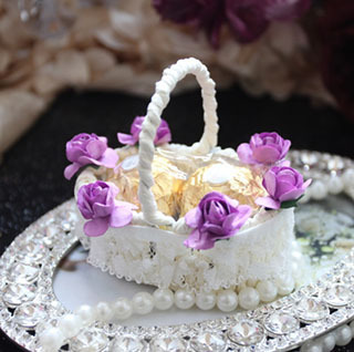 50Pcs/Lot, Free Shipping, Personalized Flower Lace Basket Wedding Favor Boxes And Gifts, Europe Wedding Decoration, Wholesale.(China (Mainland))