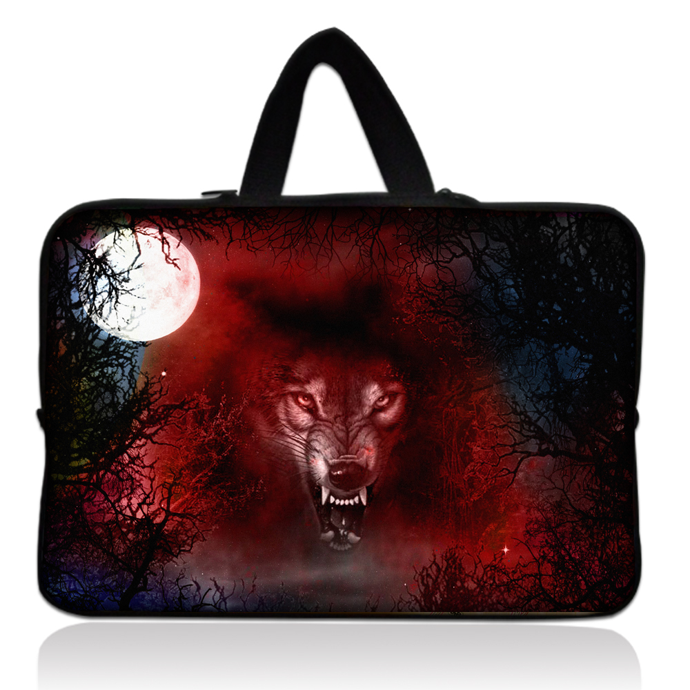 "Free Shipping Wolf 14"" 14.1"" Laptop Netbook Sleeve Bag Case Cover For Lenovo Thinkpad IBM Sony Dell(China (Mainland))"