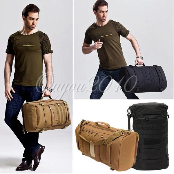 New Canvas Material Outdoor Military Tactical Rucksack Backpack Daypack Shoulder Bag Camping Hiking Tourism Travel Packet Bag(China (Mainland))