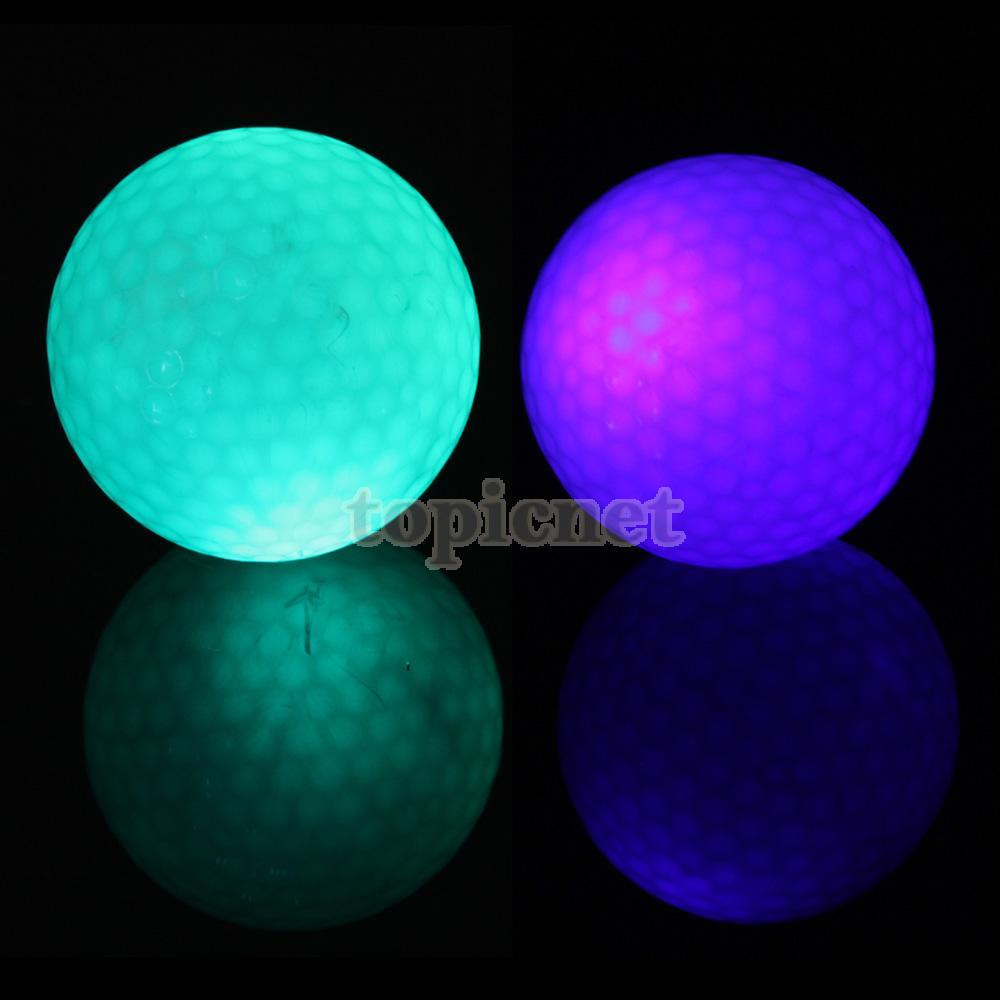 ASLT Flashing Electronic Golf Balls 2-Pack Night Golfing 1 Blue + 1 Green(China (Mainland))