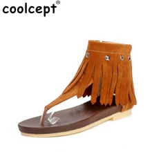 Lady Shoes Tassel Fahion Casual Clip Toe Flat Sandals Zipper Shoes Women Flip Flops Beach Shoes Zapatos Mujer Size 34-40 PA00379(China (Mainland))