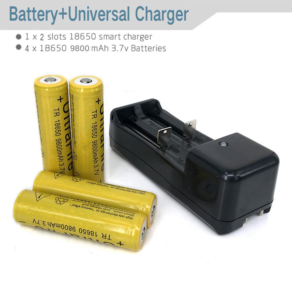 Universal 18650 16340 14500 battery charger flashlight lithium battery 3.7V lithium battery charger with 4PCS 18650 Battery(China (Mainland))