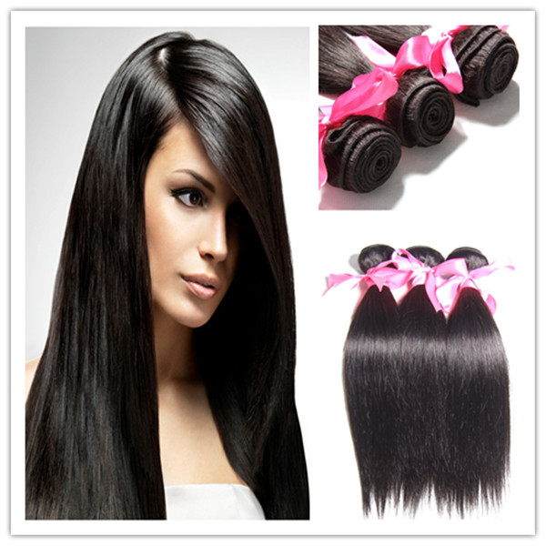 6A Unprocessed Malaysian Virgin Hair Straight Human Hair Weave Extensions 4 pcs/lot Mixed Length 10