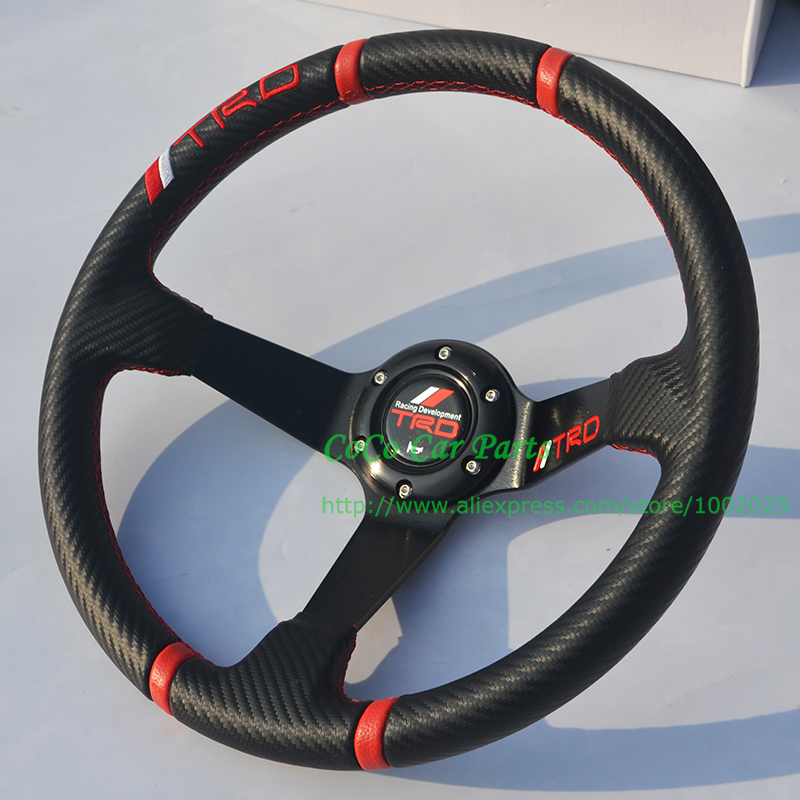 Carbon Fiber Look TRD Auto Steering Wheel(China (Mainland))