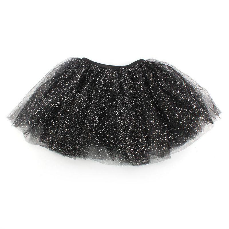 Retail 2016 Lovely Kids Girls Princess Short Tutu Skirt Bling Tulle Party Ballet Dance  Free Shipping