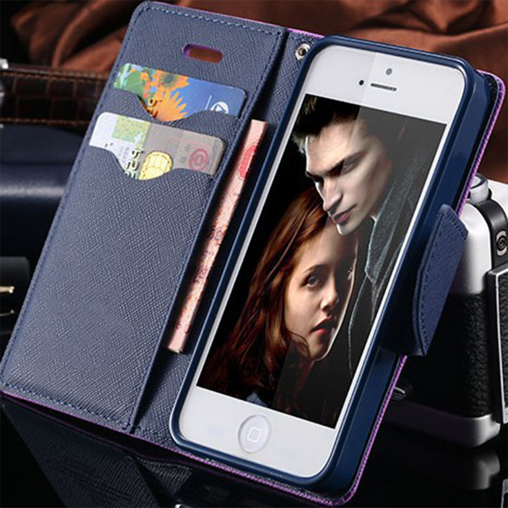 For iPhone 7 Plus Stand Wallet Cover Hit Color Leather Card Slot Flip Mobile Phone Case For iPhone 5 5S SE 6 6S Plus 7 Plus Capa(China (Mainland))
