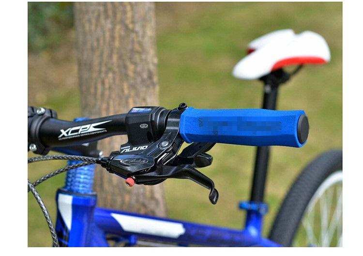 ergonomic mtb bike handlebar grips high density soft sponge folding bicycle anti skid handle bar end