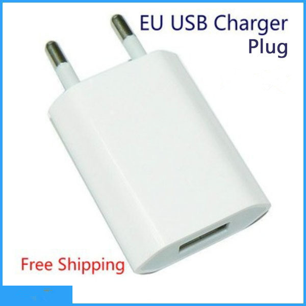White color 5V 1A EU Plug USB AC Power Wall Charger Adapter for all Apple iPhone 6 4 4S 5 5s iPod Touch EU Charger(China (Mainland))