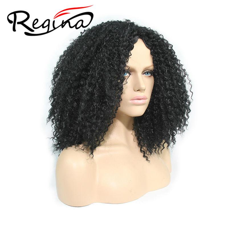 Crochet Kinky Hair : Kinky Curly Wigs Synthetic Crochet Twisted Wigs Medium Length Kinky ...