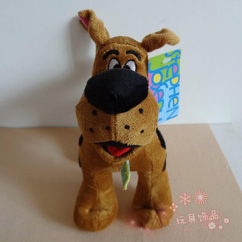 "Free Shipping High Quality Soft Plush Cute 12"" Scooby Doo Dog Dolls Stuffed Toy 3pcs/lot(China (Mainland))"