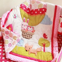 High quality 100% Cotton 84*107cm baby quilt lovely delicate cartoon baby bedding crib bedding for newborn baby girl boy(China (Mainland))