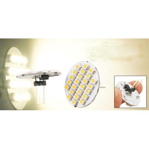 IG Wholesale New 2 Pcs Car Auto Warm White 1210 SMD 24 LEDs Vertical G4 Back Pin Light Bulb(China (Mainland))