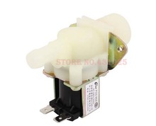 AC 220V 50Hz Washing Machine 26mm Thread Water Inlet Solenoid Valve Beige(China (Mainland))