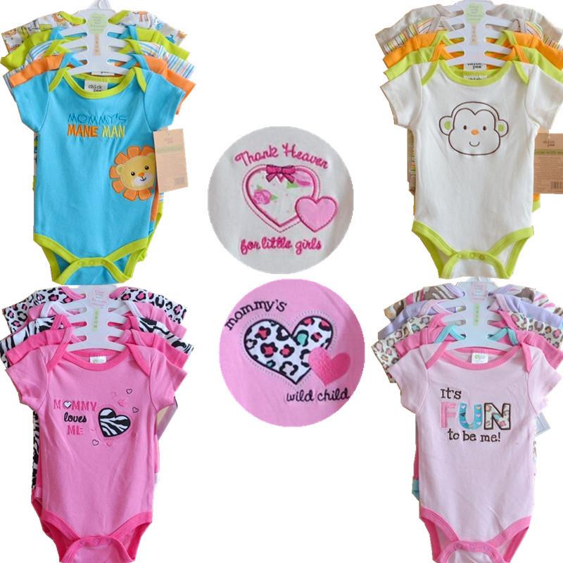 Боди для девочек Carters 5pcs/Baby Infantil Roupa Bebes Baby b5/4 B5-4