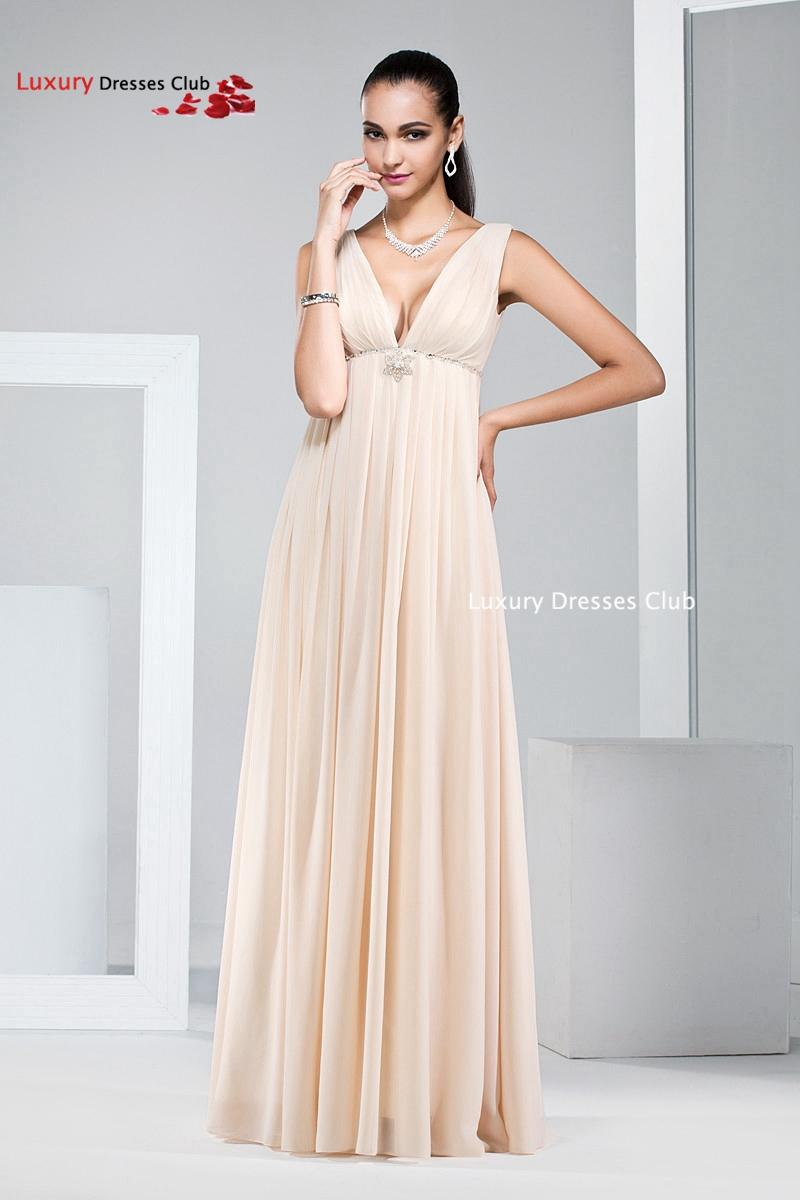 Popular champagne long bridesmaid dresses plus size 2015 for Plus size champagne colored wedding dresses