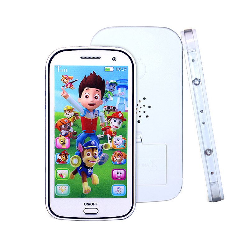 1 Pc Kids Baby Cute Patrol Dog Musical Learning Figures Educational Mobile Phone Toys Flash Intelligent Gifts for Children(China (Mainland))