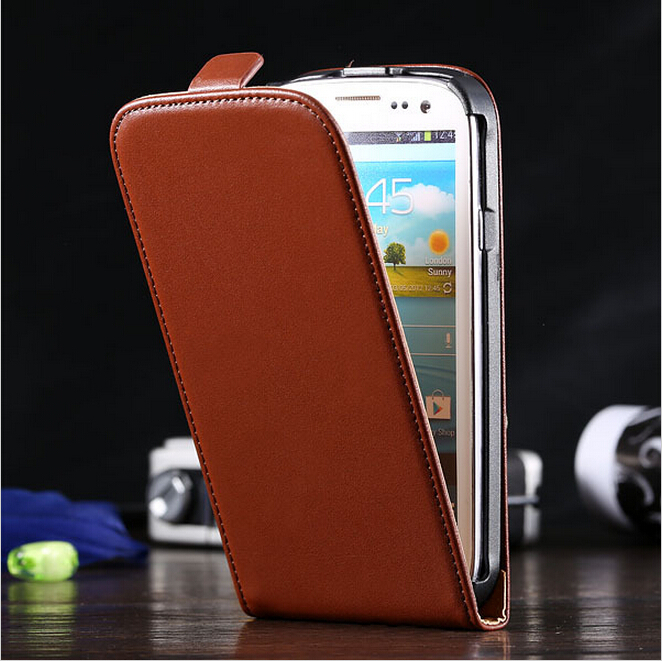 S3 Cases High Quality Retro Real Genuine Leather Mobile Phone Case For Samsung Galaxy S3 SIII I9300 Simple Vertical Flip Cover(China (Mainland))