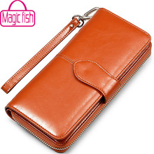 Buy Magic Fish wallet women dollar price leather purse high wallets brands purse female bag pouch bolsas money bag LS4917mf for $8.90 in AliExpress store