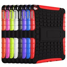 Hybrid Heavy Duty Tablet Case For Apple IPad mini 4 with Shockproof Plastic/Soft Silicone Free Shipping