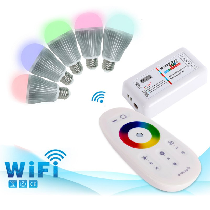 Hot RGBW RGB Strip LED Touch Screen Dimmer 2.4G RF Remote Wireless Control System(China (Mainland))