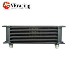 13 row British type Aluminum Universal Engine transmission oil cooler 13rows Black