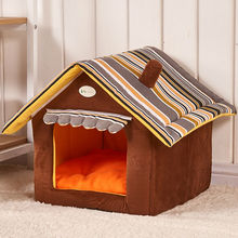 New Fashion Striped Removable Cover Mat Dog House Dog Beds For Small Medium Dogs Pet Products House Pet Beds for Cat(China (Mainland))