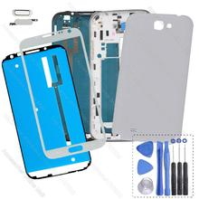 For Samsung Galaxy Note 2 N7100 N7105 i317 i605 L900 Repair Parts Original Phone Full Housing Frame Bezel Cover Case(China (Mainland))