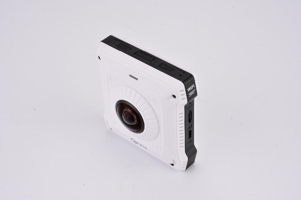 ถูก 220องศาคู่เลนส์มุมกว้าง360องศากล้องWIFI 1280*1024*2 28fpsรูปแบบวิดีโอH264 TSรูปแบบ360กล้องVRกล้องวีดีโอ