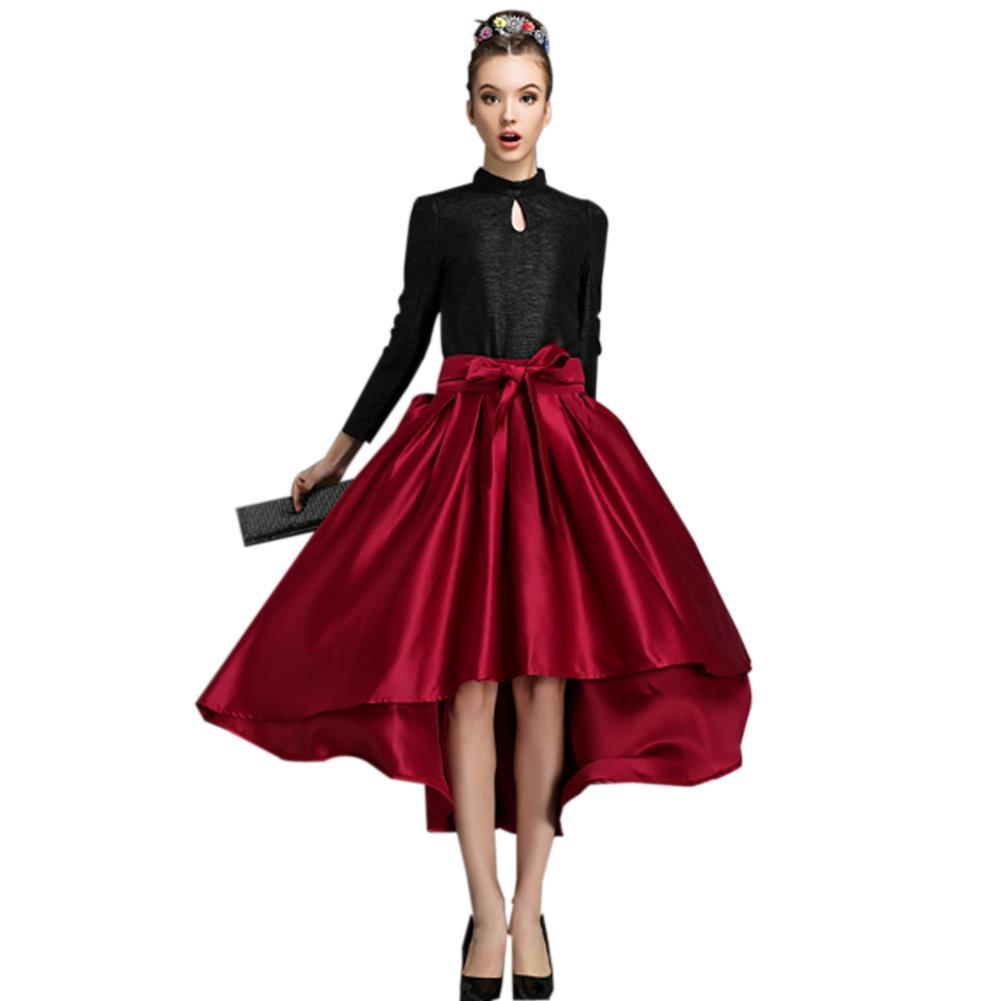 aliexpress buy retro skater skirts high low