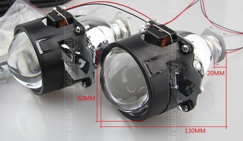 Купить 2.5 дюймов HID Объектив Проектора H1 Гнездо HID Bixenon Объектив HID Лампы с 2.5 дюймов Саван