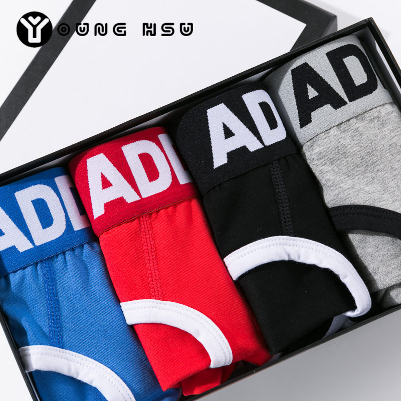 4pcs/lot Breathable Sexy Briefs Push Up Cup Front Enhancement ADDICTED Brand Men's Underwear M/L/XL/XXL Underpants Free Shipping(China (Mainland))
