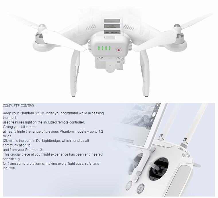 DJI Phantom 3 Professional / 4K Version Quadcopter Helicopter RC Drone With 4K Camera PK Phantom 2 vision walkera q500