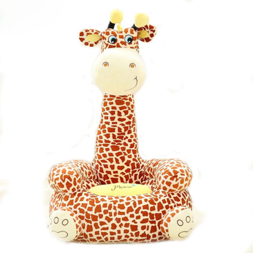 Sofa Baby Seat Beanbag Cartoon Kawaii Cute Giraffe Children Sofa for Kids Sleeping Bed Baby Nest Puff Chair Bean Bag Plush Toys(China (Mainland))