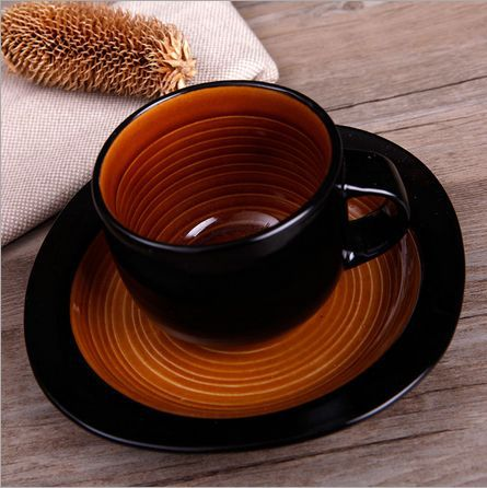 Disposable Cups New Canecas 2015 Professional Cappuccino Latte Art Coffee Tea Milt Colour Orange Circle Mup Cup Fashion Gift(China (Mainland))