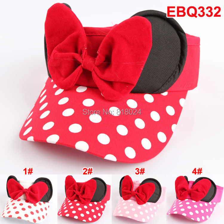 Retail 2014 Baby Hat Children Mickey Mouse Hat Infant Cotton Cartoon Baseball Caps, Big Dot children's Summer hats Free Shipping(China (Mainland))