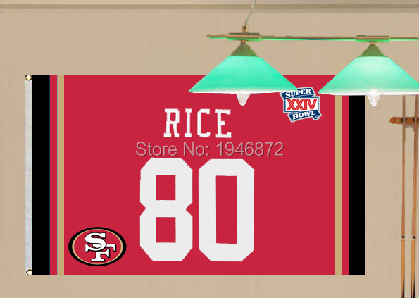 San Francisco 49ers Jerry Rice 80 Fan Flag 3X5FT(China (Mainland))