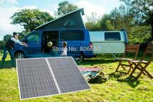 folding poly  solar panel 200w  with controller , battery clips ,cable  for  12v battery,   car , Rv boat, home ,free shipping