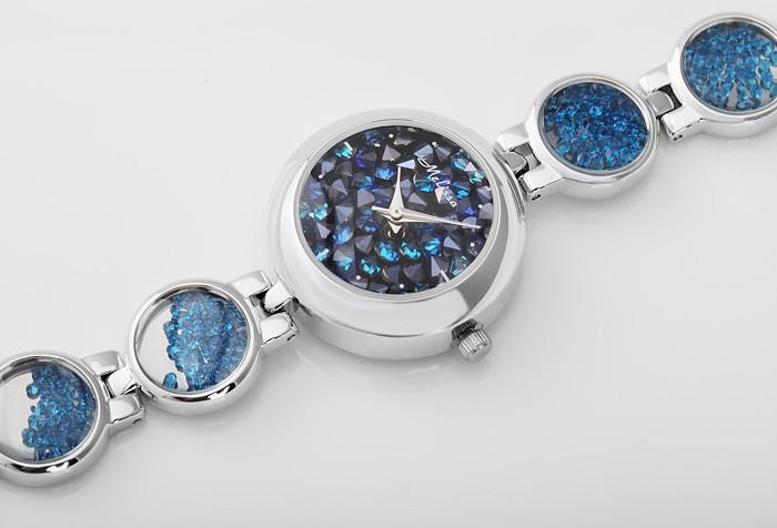 Мелисса леди наручные часы женские кварцевые топ мода платье сеть браслет роскошные стразы кристалл девушка подарок на день рождения