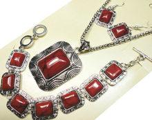 8 Styles Turquoisee pierre bijoux ensemble Vintage Antique argent collier ensembles pendentif boucle d'oreille Bracelet pour femmes Grils ensembles de bijoux(China)